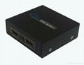 深圳厂家直销1进2出HDMI分配器hdmi分频器支持3D