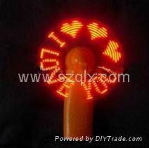 flashing mini gift fan