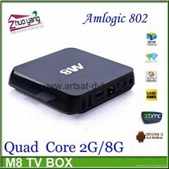 Super M8 legoo smart tv box Amlogic S802 2G/8G stable xbmc google tv converter b