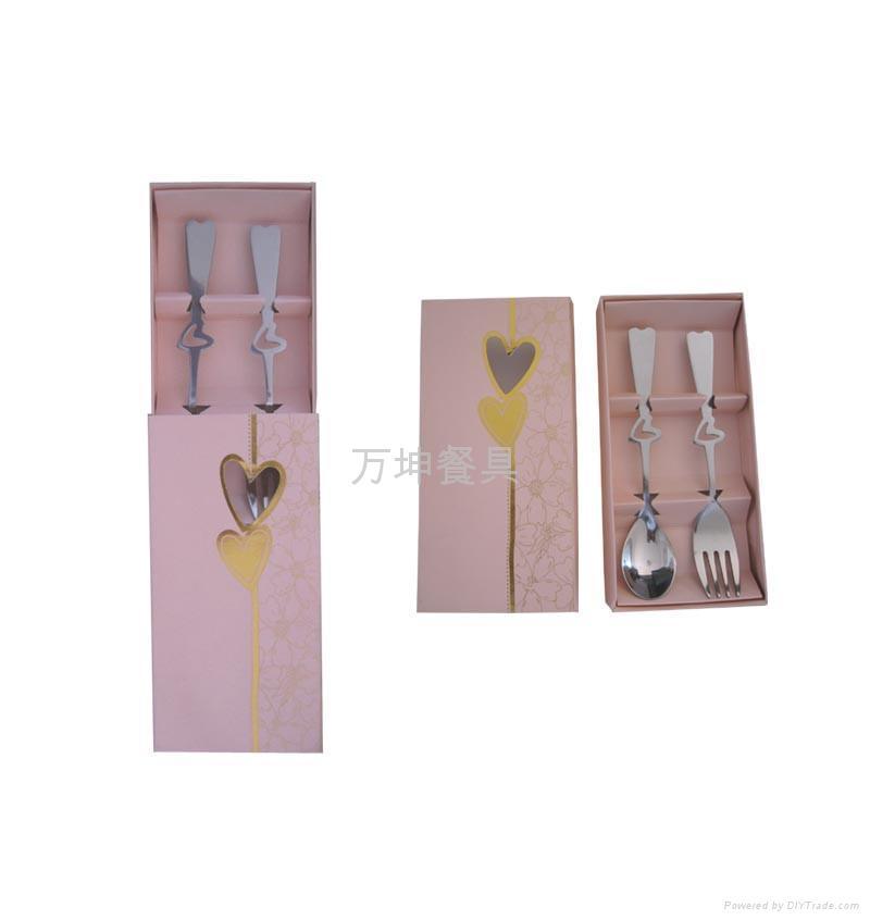 不锈钢情侣餐具  1