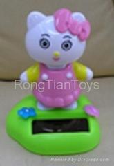 Solar swing toy