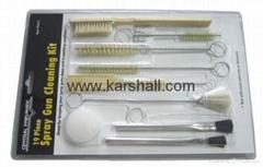 19 piece spray gun cleaning kit