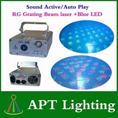 AC110-250V RG+Blue LED Grating Beam Laser Stage Light Laser Disco DJ Party