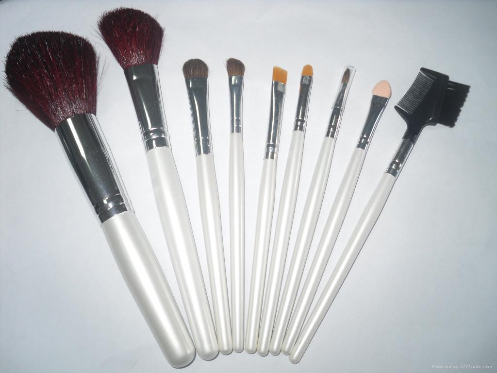 新妍美廠家供應10支白色木柄化妝掃美容工具 2