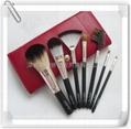 新妍美廠家供應7支化妝套刷+ PU化妝包 可定製 美容美妝化妝掃 2