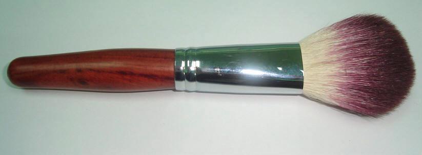 新妍美廠家供應上等羊毛散粉刷紅木手柄銅管 高檔化妝刷 2