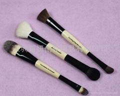 新妍美廠家供應動物毛雙頭兩用化妝刷 可定製 美容美妝化妝掃