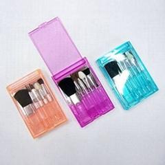 聖誕禮品化妝工具5PCS透明盒小套刷