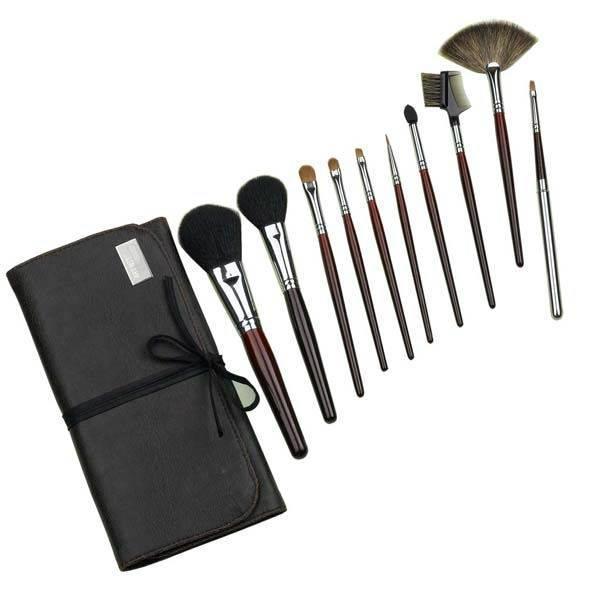 新妍美供應黑色精美款木柄化妝套刷 可定製 美容美妝化妝掃 2