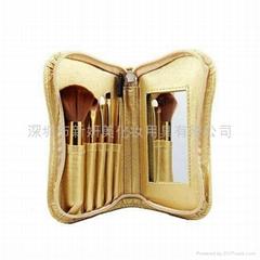 新妍美供应5支装奢华迷你套刷附带镜子 高档化妆扫 可定制