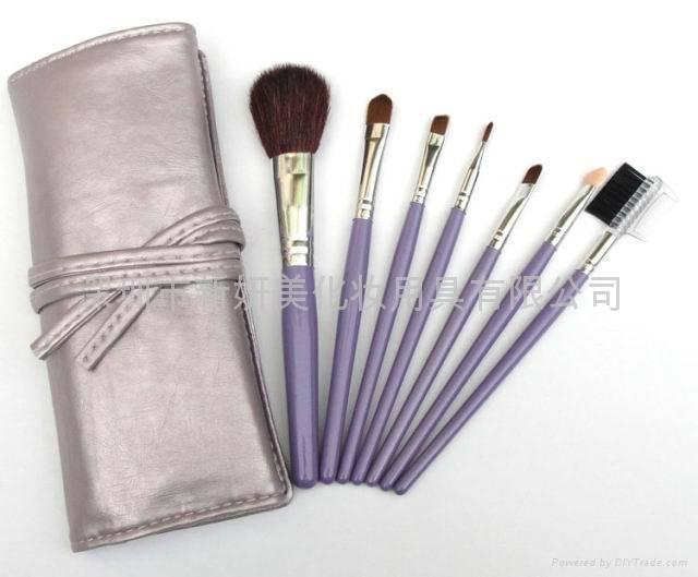 新妍美供應紫色禮品裝便攜款化妝套刷 美容美妝工具化妝掃 可定製 2