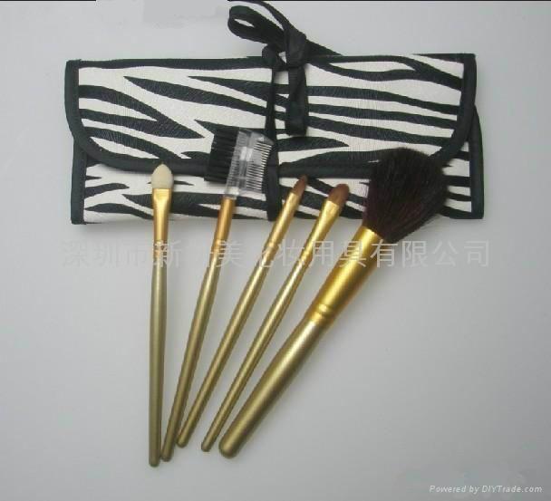 新妍美廠家供應5支裝便攜款化妝套刷 可做禮品美容美妝化妝掃 2