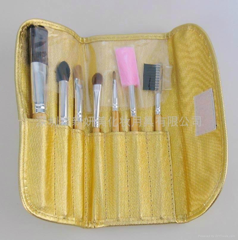 新妍美廠家供應精美化妝套刷7只裝 PU化妝包 美容美妝化妝工具 4