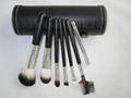厂家新妍美化妆刷OEM化妆刷多色7支套刷+圆筒盒 2