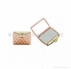 新妍美供應精美錢包狀便攜款禮品化妝鏡 可定製