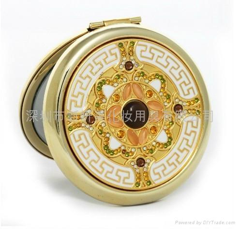 时新妍供应时尚精美金属高质量化妆镜 可定制