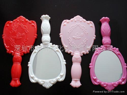新妍美供應公主風格塑膠手柄化妝鏡 可定製 2