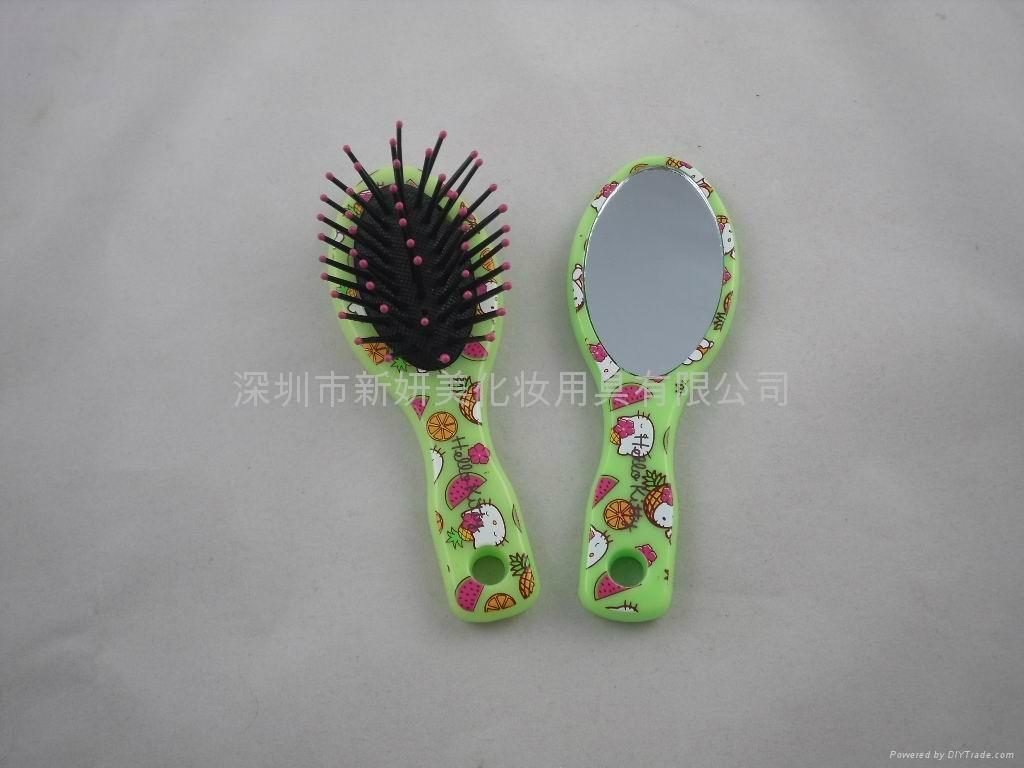 新妍美供应儿童用化妆镜+梳子套装 可定制 4