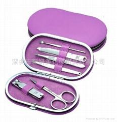 新妍美供應護理不鏽鋼美甲工具美容套裝鐵框盒