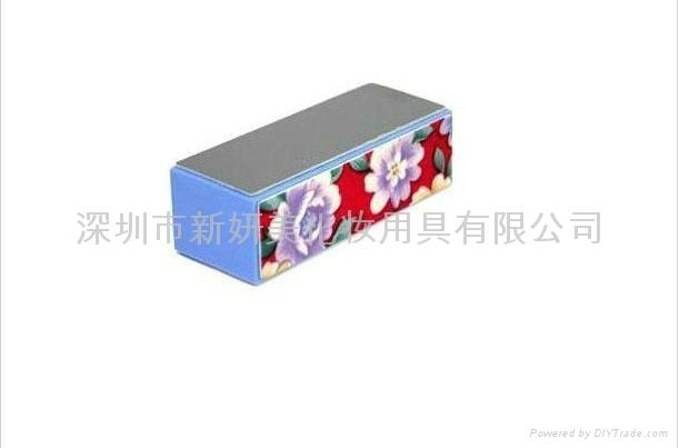 新妍美工厂供应四方块花纹指甲抛光锉定制 OEM 2