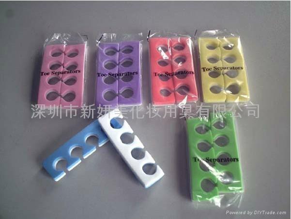 新妍美供应EVA星形花朵形多色分趾器 精美礼品化妆用具 4