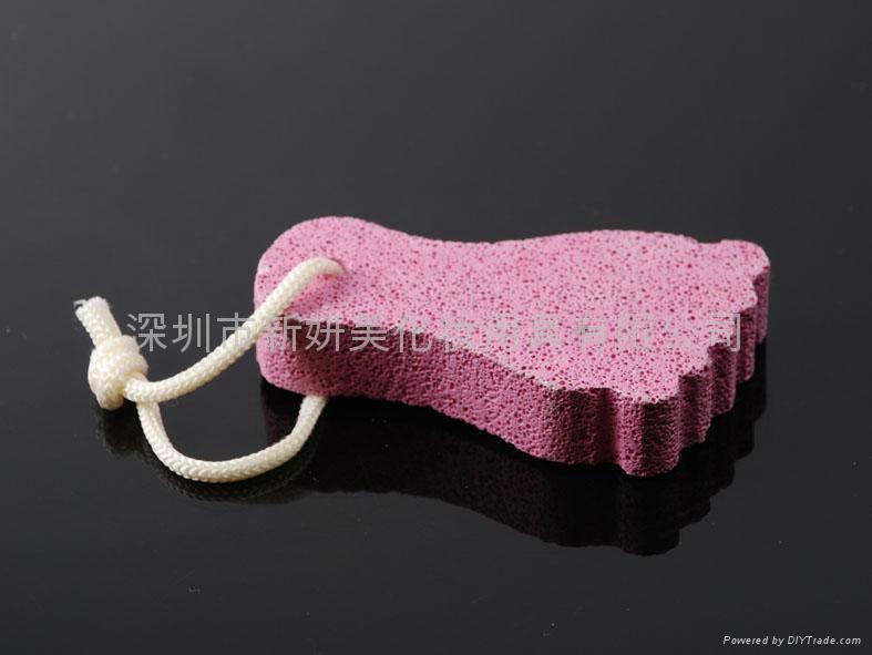新妍美供應可愛腳型浮石  美足工具祛死皮磨腳石 1