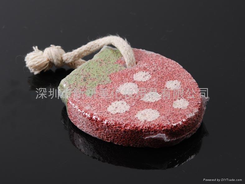 新妍美供应可爱草莓型浮石磨脚石,祛死皮磨脚器 1