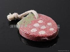 新妍美供應可愛草莓型浮石磨腳石,祛死皮磨腳器