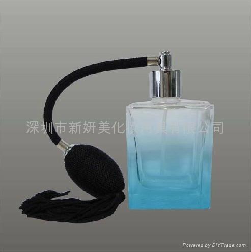 新妍美供应新款精美流苏玻璃喷雾瓶 水晶玻璃瓶 2