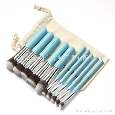 新妍美厂家供应10支化妆刷套装 高质量多功能粉底刷 8