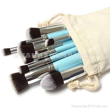 新妍美廠家供應10支化妝刷套裝 高質量多功能粉底刷 9