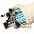 新妍美厂家供应10支化妆刷套装 高质量多功能粉底刷 9