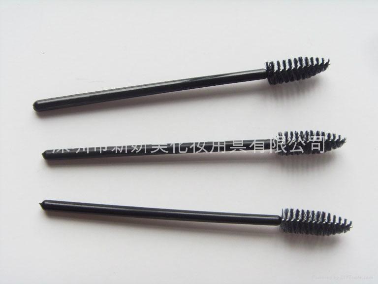 厂家供应25支装一次性睫毛刷子 黑色睫毛卷 美容工具 2