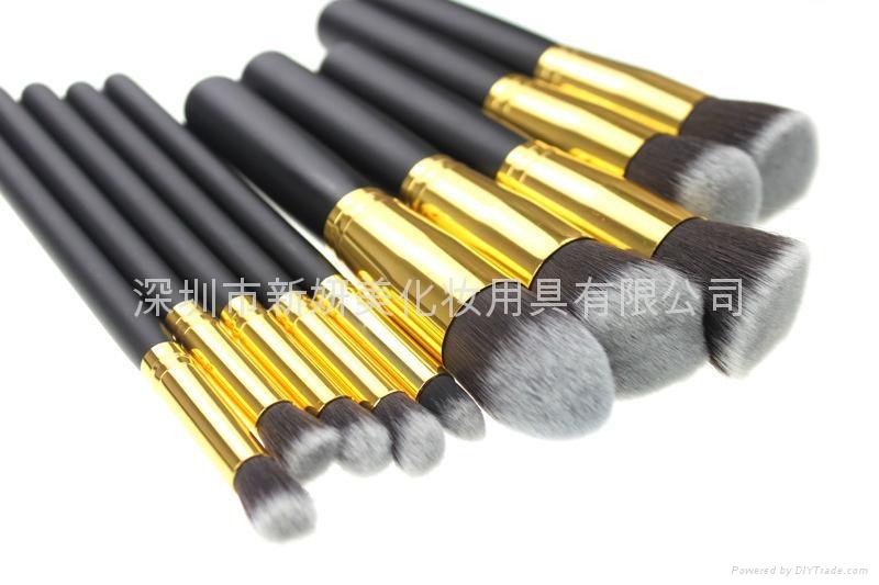 新妍美厂家供应10支化妆刷套装 高质量多功能粉底刷 2