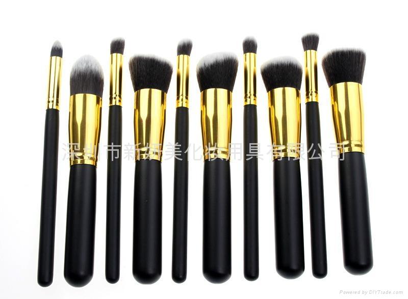 新妍美廠家供應10支化妝刷套裝 高質量多功能粉底刷 4