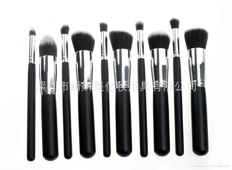 新妍美廠家供應10支化妝刷套裝 高質量多功能粉底刷 5