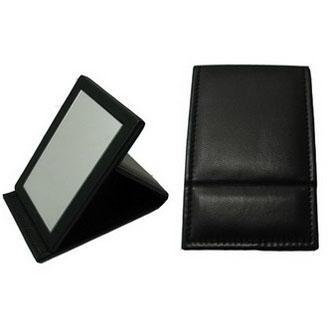 厂家供应新妍美可折叠PU材料便携款化妆镜 1