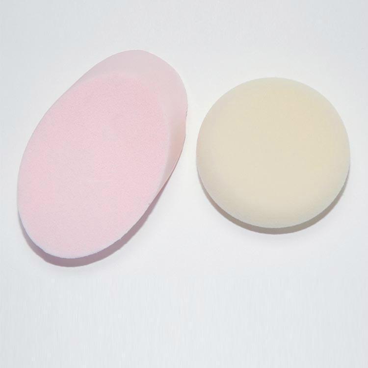 新妍美供應圓形/橢圓形干濕兩用化妝粉撲 可定製 1