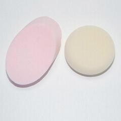 新妍美供应圆形/椭圆形干湿两用化妆粉扑 可定制