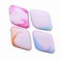 新妍美供應彩色方形圓形化妝粉撲 干濕兩用粉撲 可定製 2