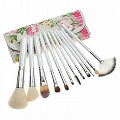 厂家供应专业人造毛12支化妆套刷 可定制