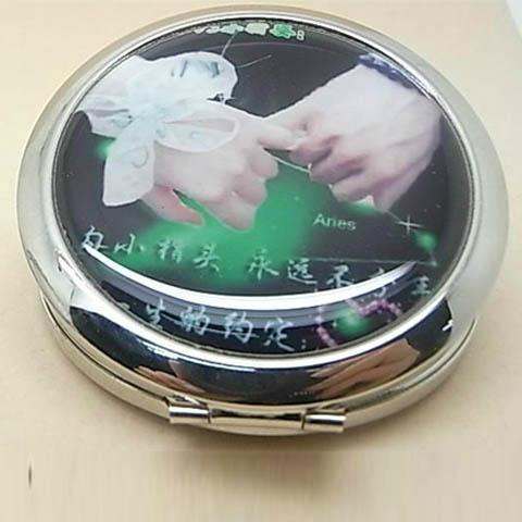厂家供应新妍美圆形金属轻便化妆镜 2