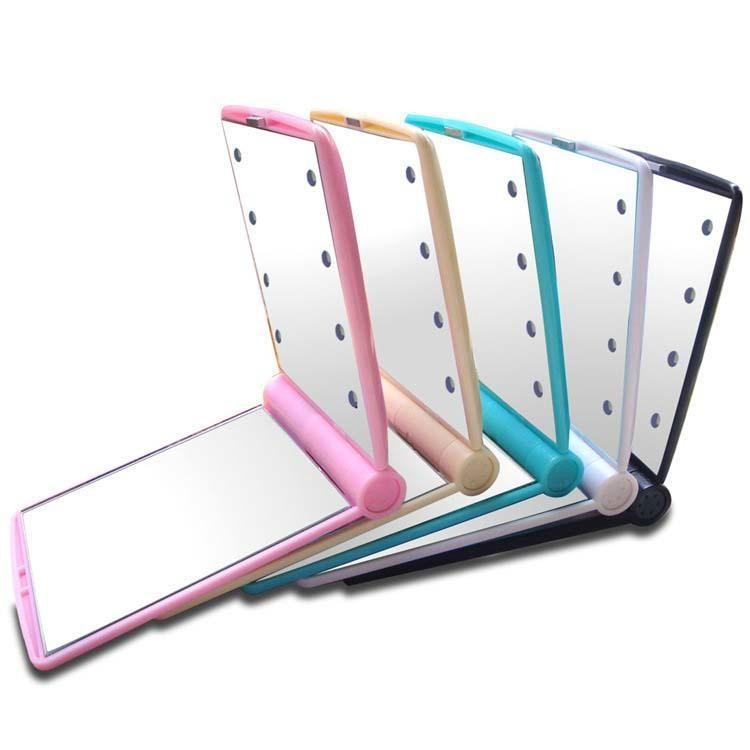新妍美供應LED小方形塑膠便攜式化妝鏡 1