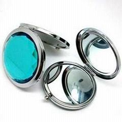 新妍美供应时尚精美金属款塑胶款化妆镜 可定制