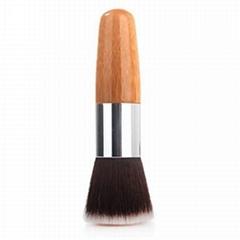 厂家供应高级化妆粉刷,竹子柄平头 粉底液刷 可定制