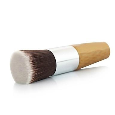 厂家供应高级化妆粉刷,竹子柄平头 粉底液刷 可定制 2