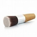 廠家供應高級化妝粉刷,竹子柄平頭 粉底液刷 可定製 2