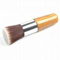 厂家供应高级化妆粉刷,竹子柄平头 粉底液刷 可定制 3