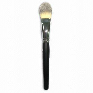 厂家供应木柄进口人造毛畅销眼影刷 礼品化妆刷 2