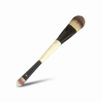 厂家供应木柄进口人造毛畅销眼影刷 礼品化妆刷 3